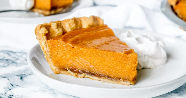 Brown Butter Black-Bottom Sweet Potato Pie