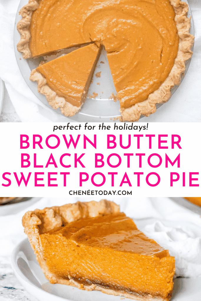 Brown Butter Black-Bottom Sweet Potato Pie Recipe | Chenée Today