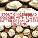 Stout Gingerbread Cookies with Brown Butter Cream Cheese Frosting | Chenée Today
