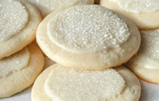 Peppermint White Chocolate Sugar Cookies