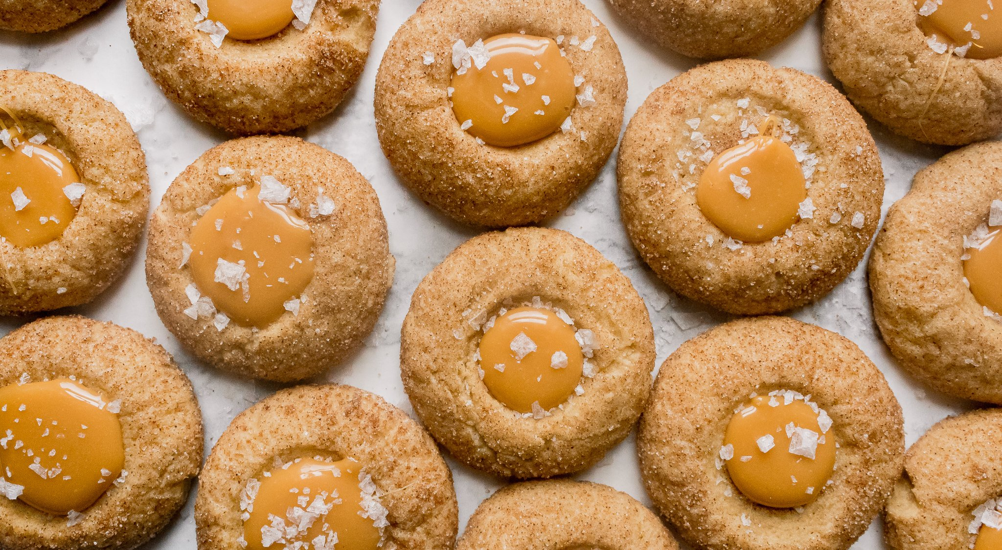 Best Easy Salted Caramel Cinnamon Thumbprint Cookies Recipe - Chenée Today