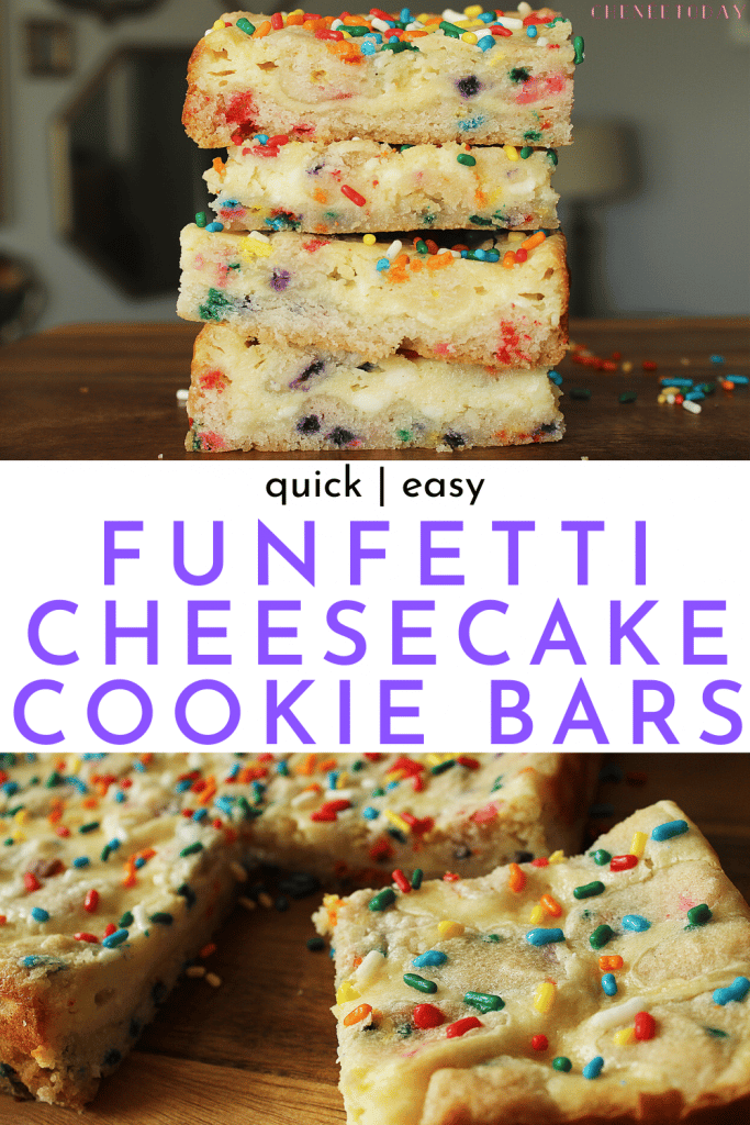 Funfetti Cookie Cheesecake Bars