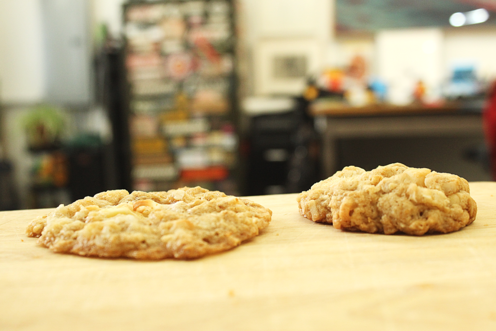 coconut macadamia oatmeal cookies