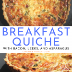 How to Make Homemade Breakfast Quiche with Bacon, Leek, and Asparagus | Chenée Today