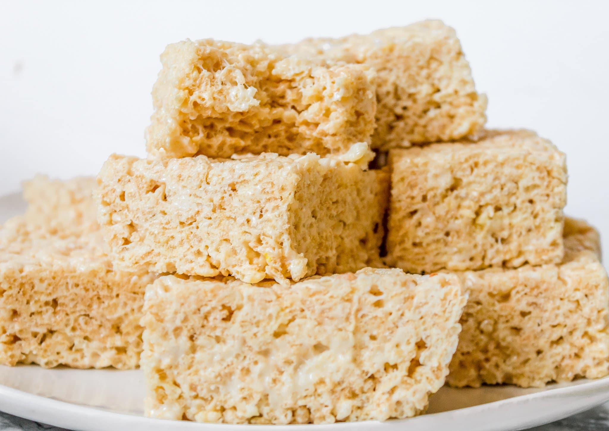 Fancy Rice Krispie Treats with Brown Butter and White Chocolate Ganache