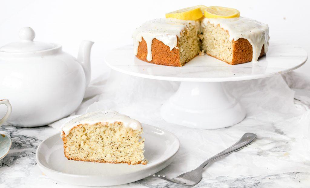 Lavender Earl Grey Cake Recipe with Honey Lemon Glaze | Chenée Today