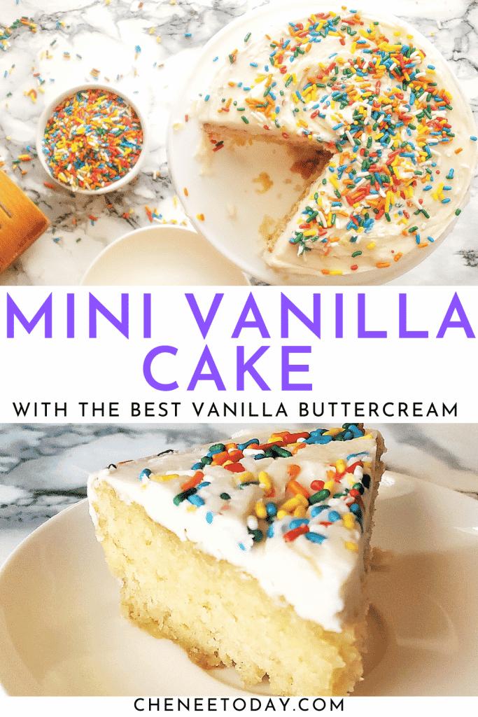 Easy Mini Vanilla Cake Recipe from Scratch - Perfect Small Vanilla Cake for Two! | Chenée Today