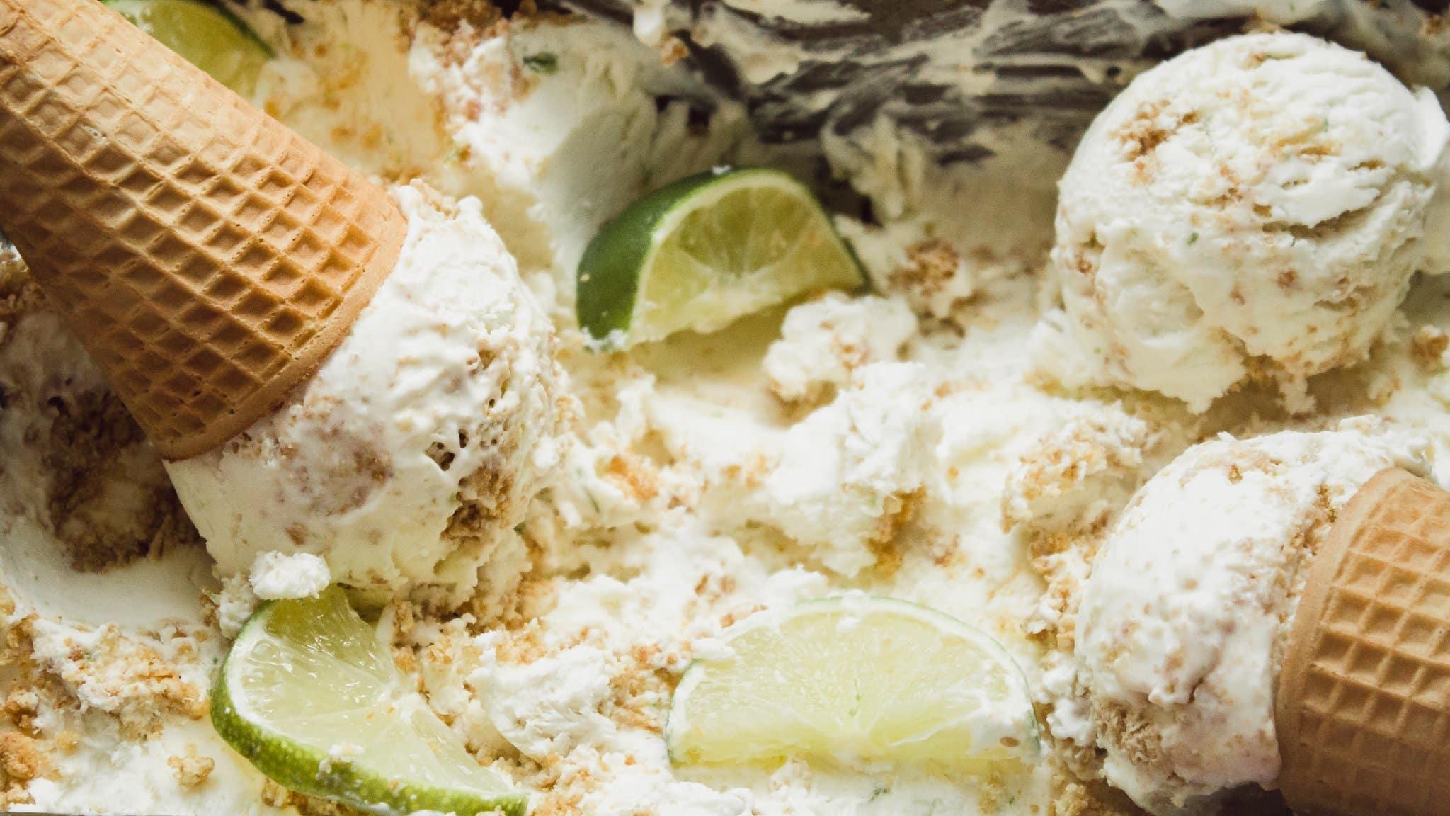 no-churn key lime ice cream