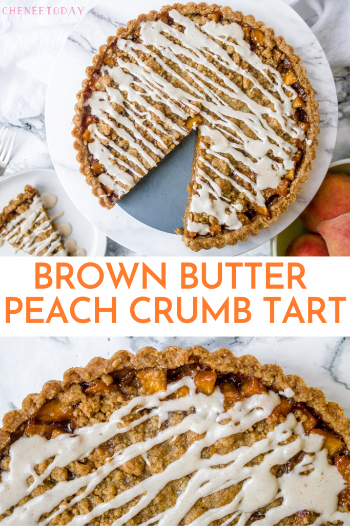 Brown Butter Peach Crumb Tart Recipe | Chenée Today