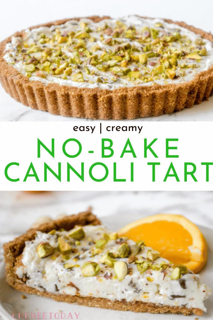 No-Bake Cannoli Tart Recipe - So Easy!   Chenée Today