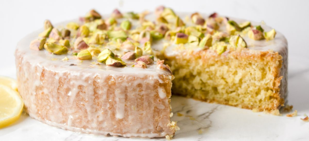 Vegan Olive Oil Cake with Lemon and Pistachio