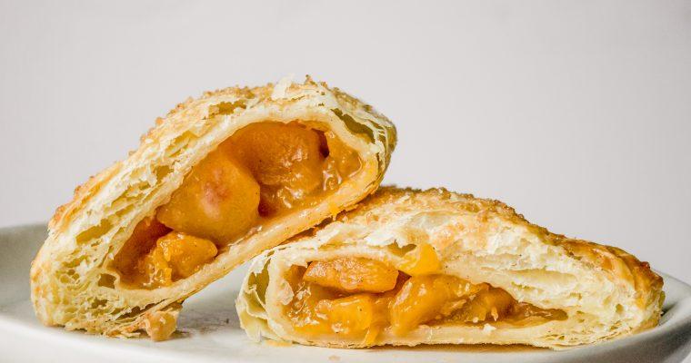 Peach Turnovers with Smoked Sugar