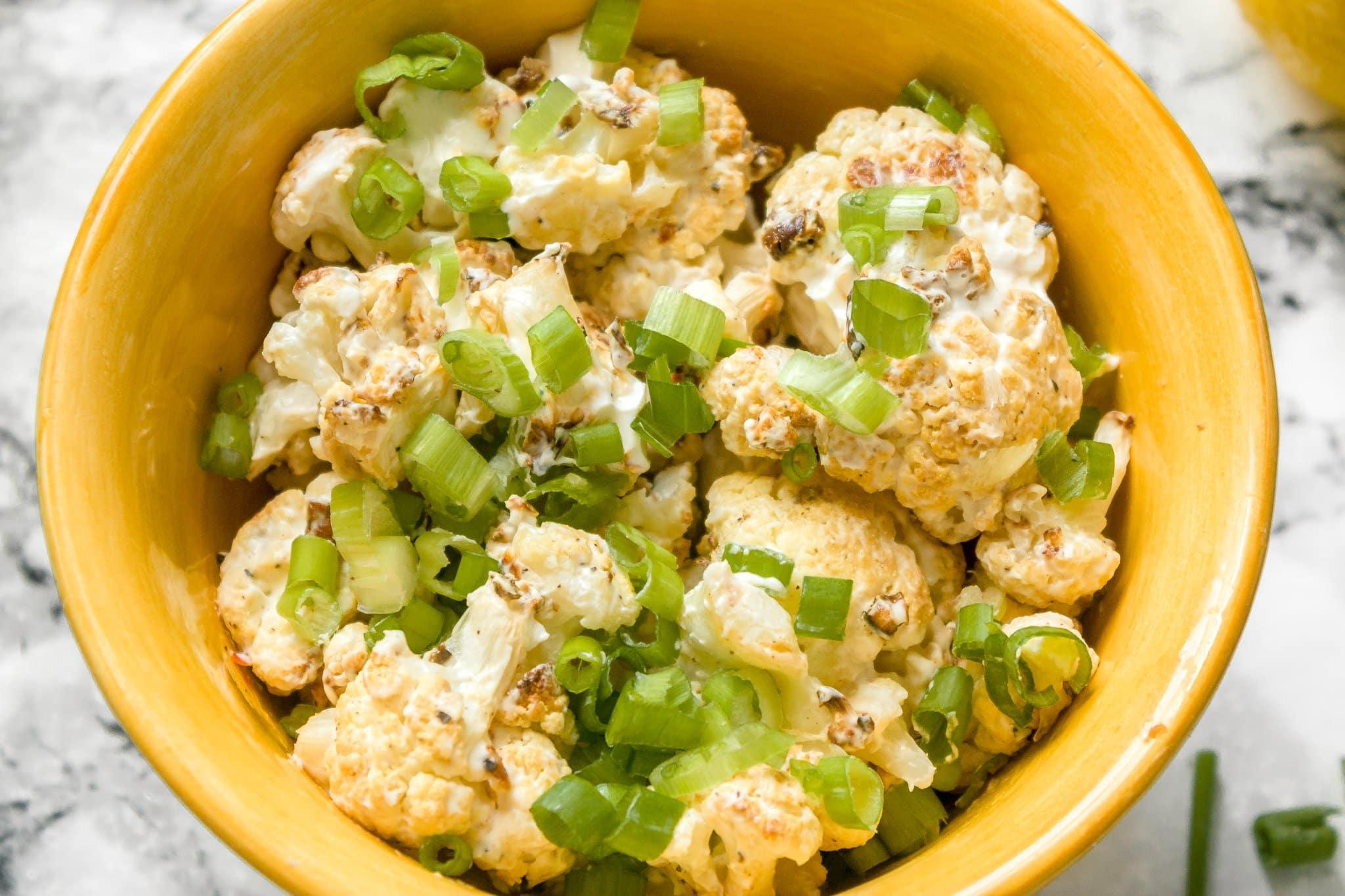 Creamy Keto Lemon-Garlic Roasted Cauliflower Recipe | Chenée Today