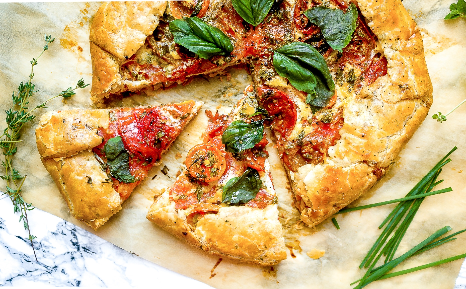 Heirloom Tomato Galette with Herbs