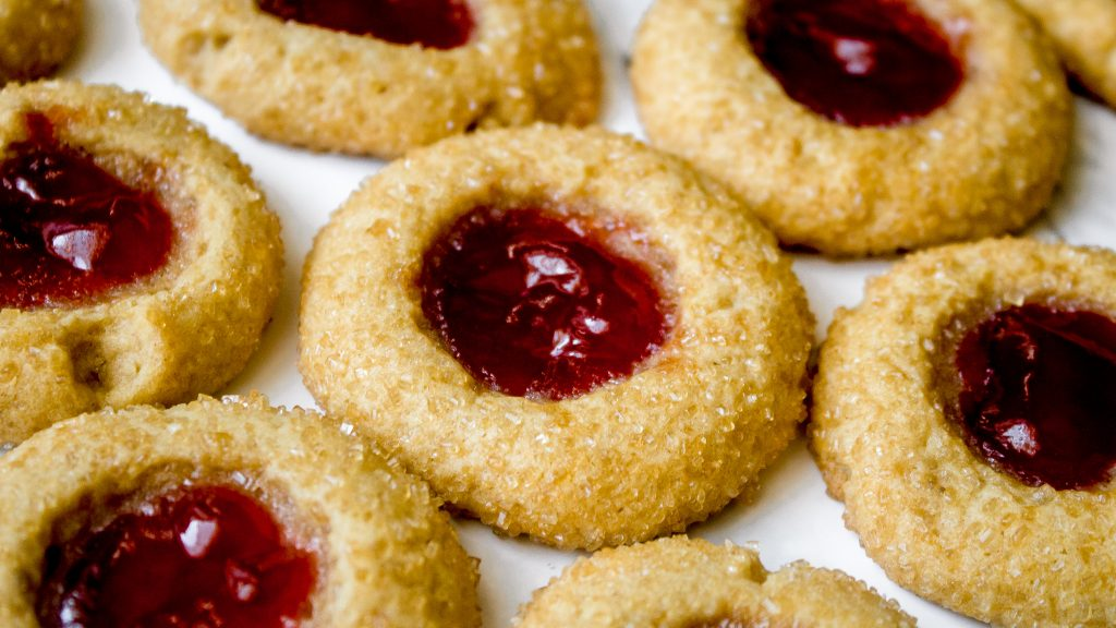 Peanut Butter and Jelly Thumbprint Cookies Recipe | Chenée Today