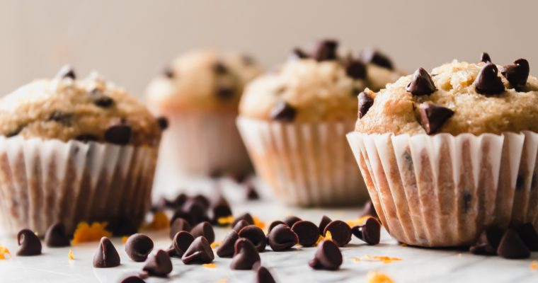 Chocolate Chip Mini Muffins with Orange Zest