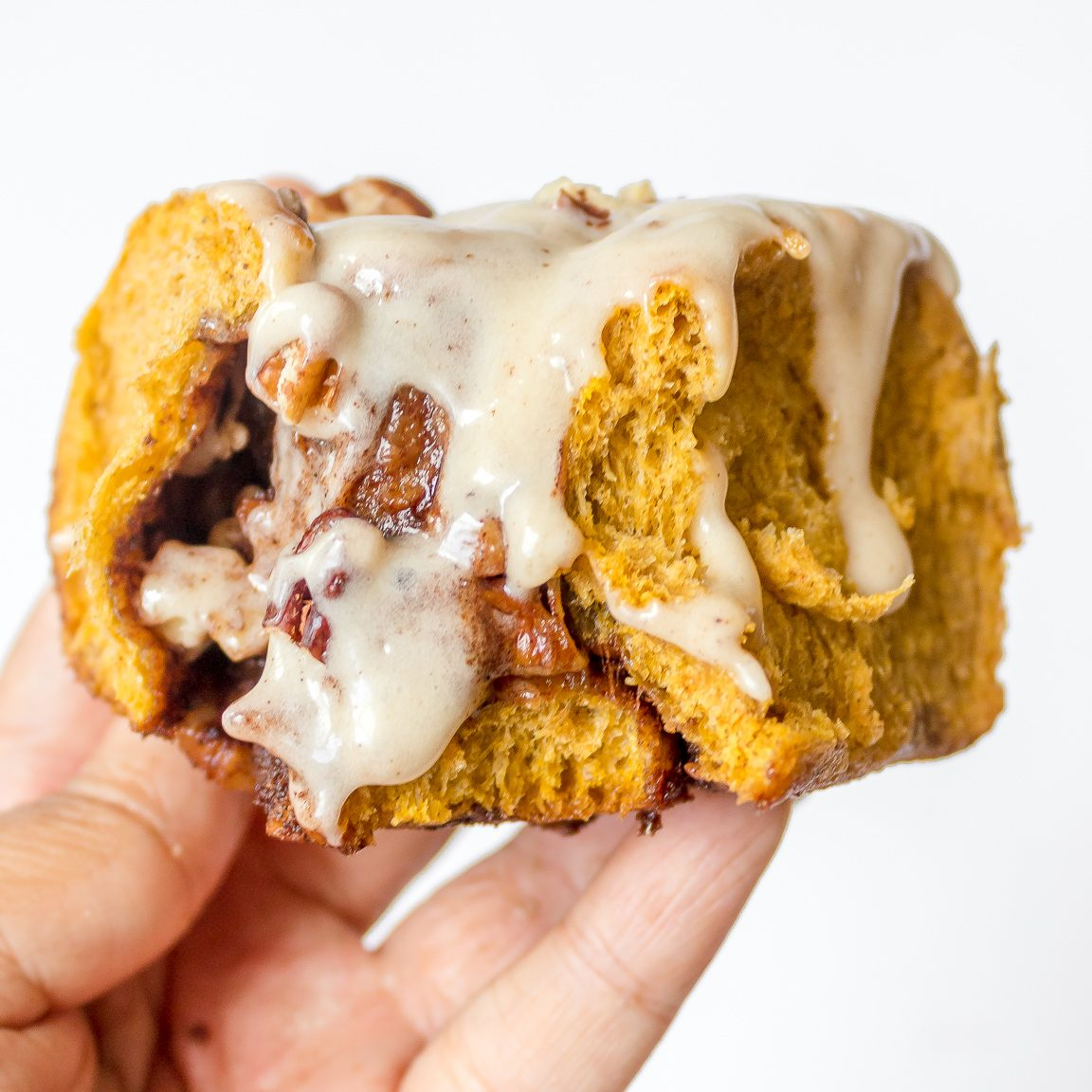 Homemade Brown Butter Pecan Pumpkin Cinnamon Rolls with Easy Brown Butter Cream Cheese Frosting   Chenée Today