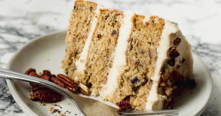 Butter Pecan Cake with Cream Cheese Frosting