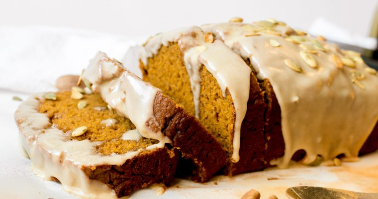 Pumpkin Bread with Maple Brown Butter Glaze