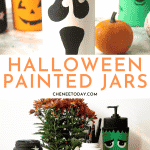 Halloween Painted Jars and Rocks - Easy arts and crafts idea! | Chenée Today