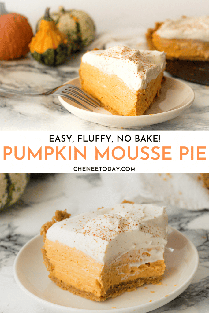 Easy No-Bake Pumpkin Cream Cheese Pie with Maple Cookie Crust | Chenée Today