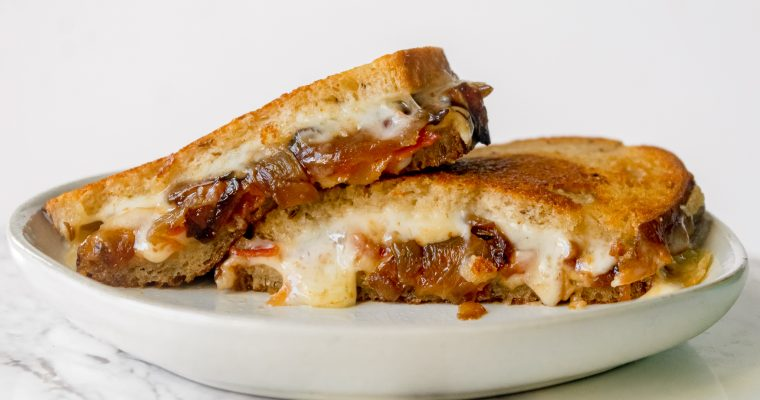 Havarti Grilled Cheese with Bacon and Caramelized Onion