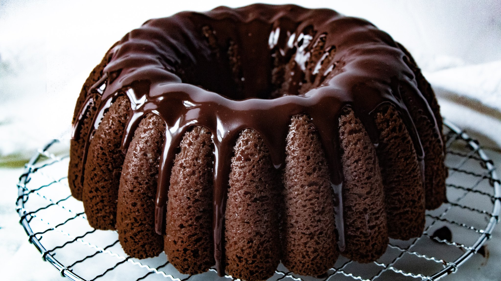 Chocolate Sour Cream Pound Cake Recipe - Moist Bundt from Scratch with Easy Glaze! | Chenée Today