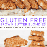 Best Ever Gluten Free Blondies Recipe with White Chocolate Chunks | Chenée Today