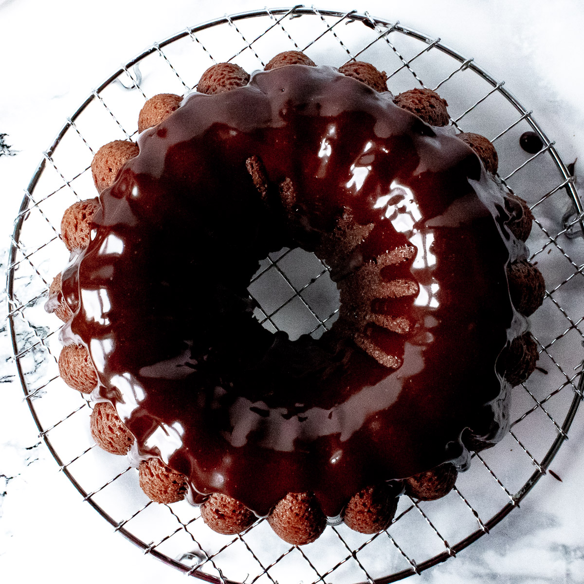 chocolate sour cream pound cake from above