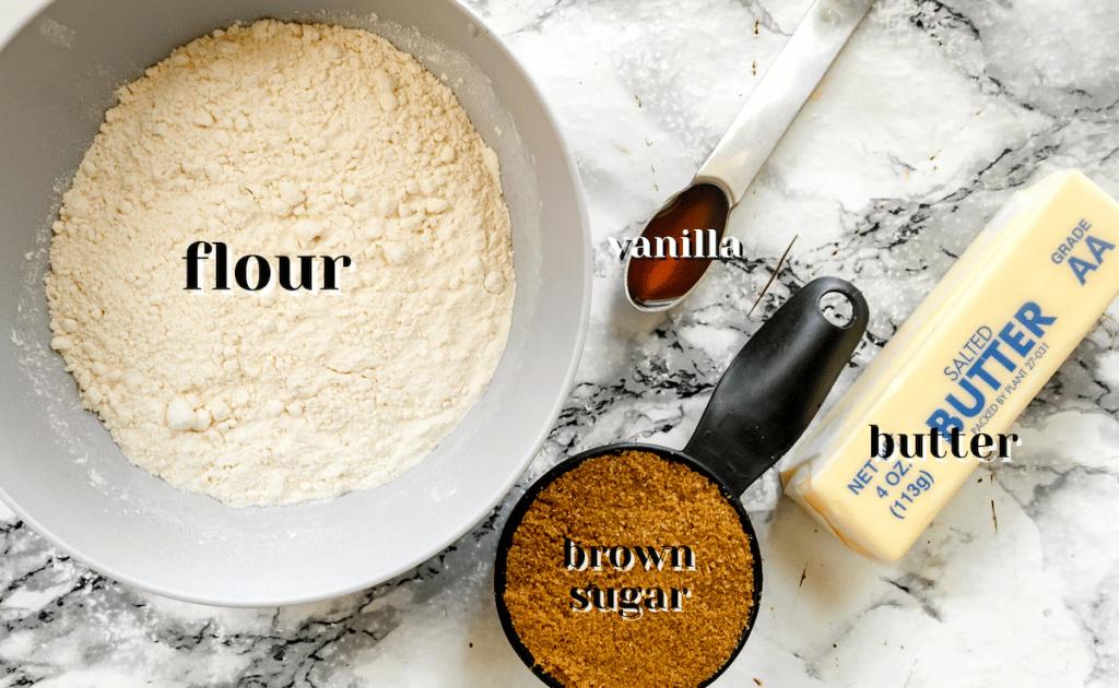 brown sugar shortbread cookies ingredients
