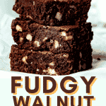 Classic Fudge Chocolate Walnut Brownies Recipe - Better Than Box Mix! | Chenée Today