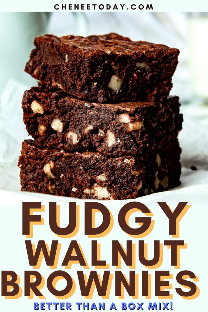 Classic Fudge Walnut Brownies Recipe - Better Than Box Mix! | Chenée Today
