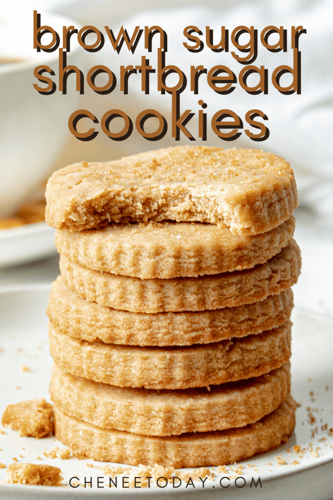 Simple Brown Sugar Shortbread Cookies Recipe - 4 Ingredients! | Chenée Today