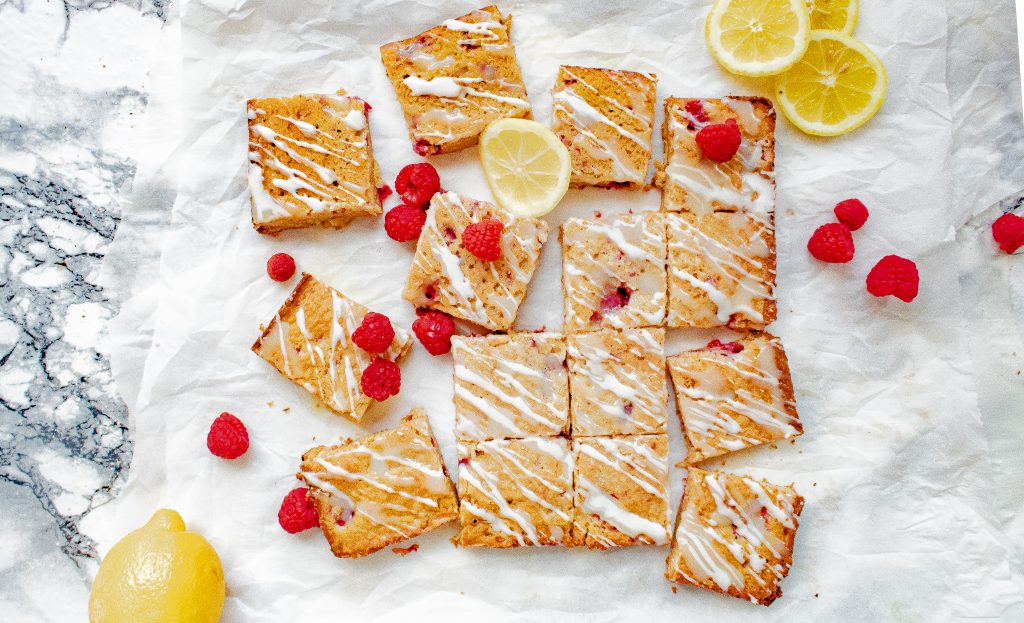 Easy Raspberry and White Chocolate Blondies Recipe | Chenée Today