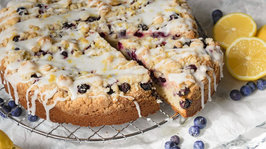 Blueberry Cream Cheese Coffee Cake with Lemon Icing   Chenée Today