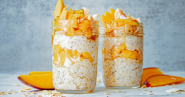 Mango Overnight Oats with Coconut