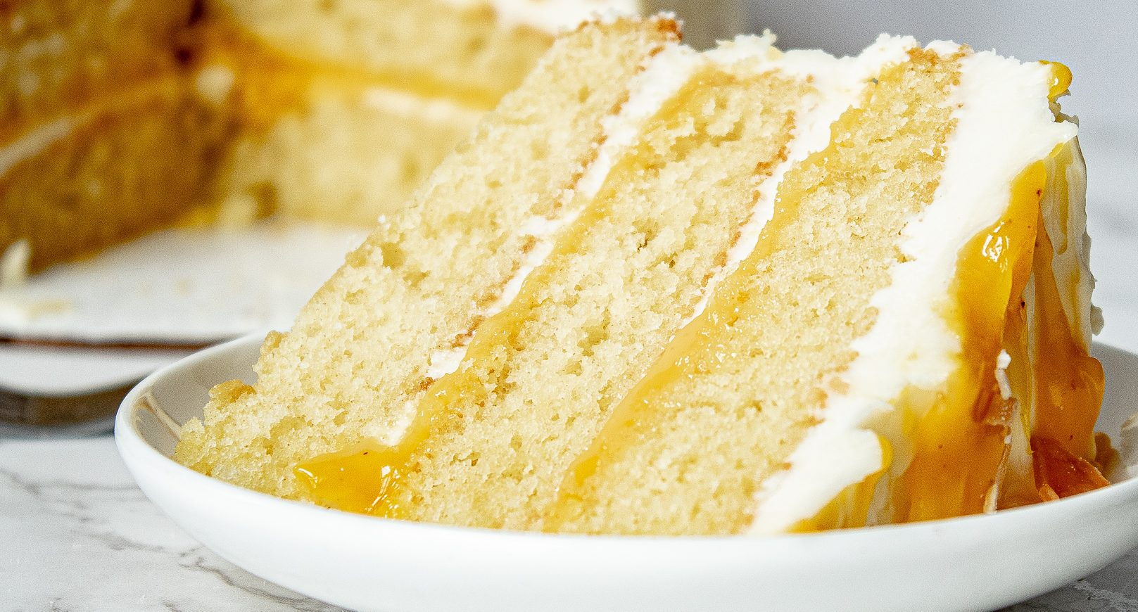 Passionfruit Cake Recipe - Fluffy, Moist Vanilla Cake with Passionfruit Curd | Chenée Today
