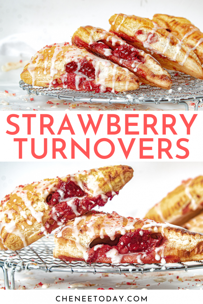 Strawberry Turnovers Recipe - Puff Pastries with Homemade Filling!   Chenée Today