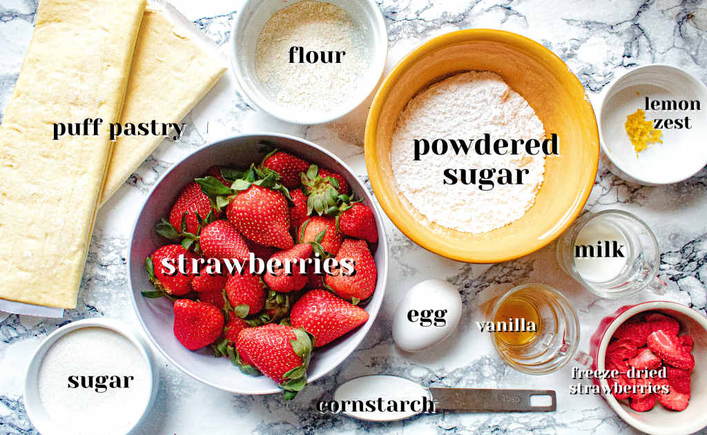 strawberry turnovers ingredients