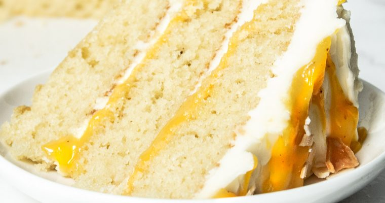 Passionfruit Cake with White Chocolate Swiss Meringue Buttercream