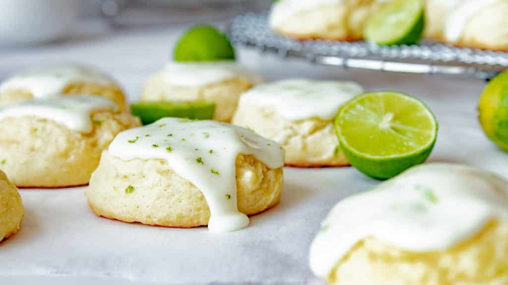 Key Lime Cookies with an Easy Powdered Sugar Citrus Glaze | Chenée Today
