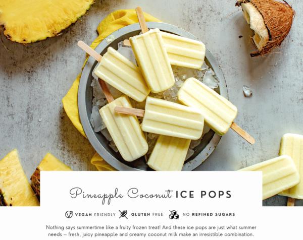 summer cookbook with summer treats recipes