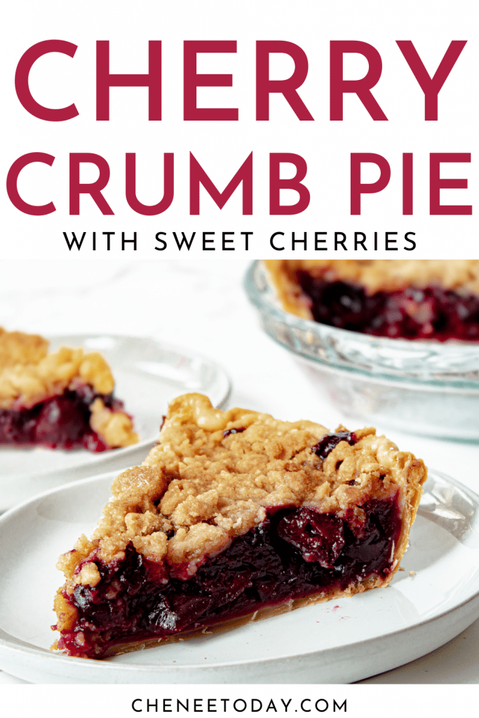 Cherry Crumb Pie Recipe - Homemade with Crumble Topping   Chenée Today