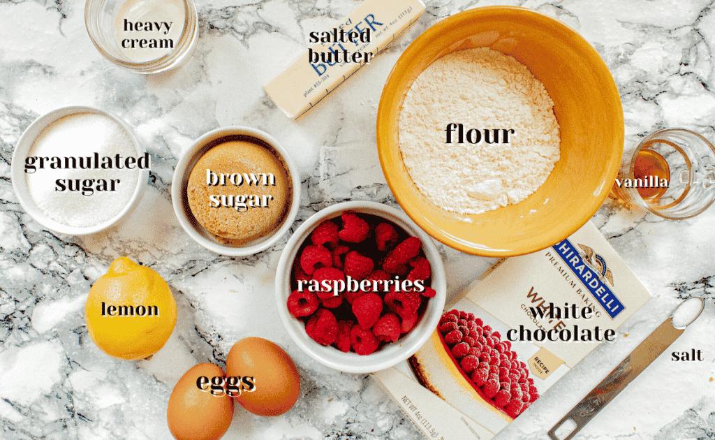 raspberry blondies recipe ingredients