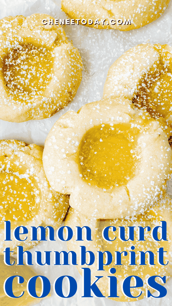 Lemon Curd Cookies Recipe from Scratch -- So Simple! | Chenée Today