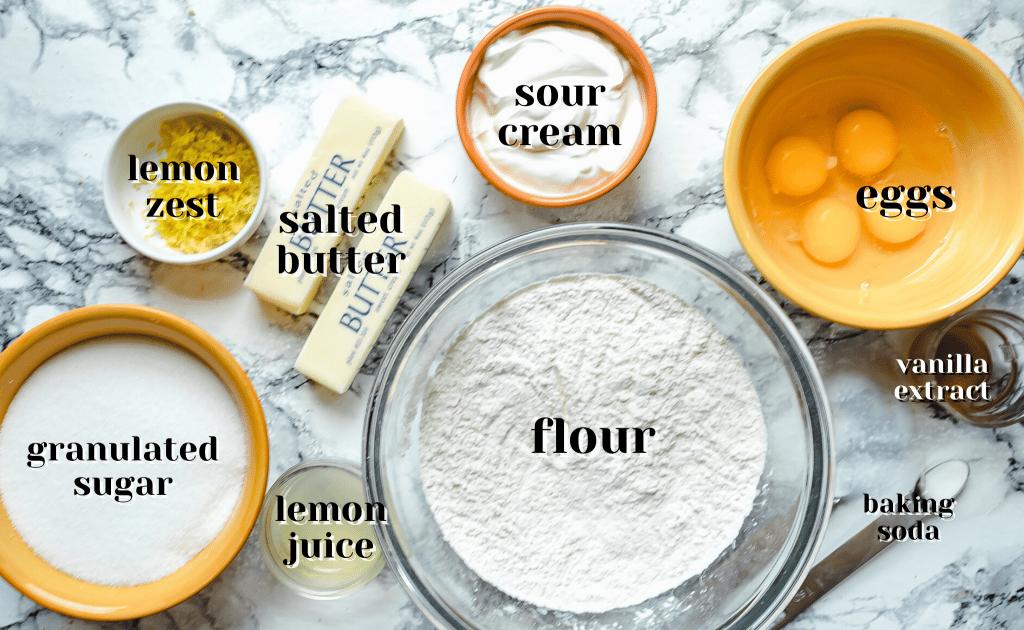 lemon sour cream pound cake ingredients