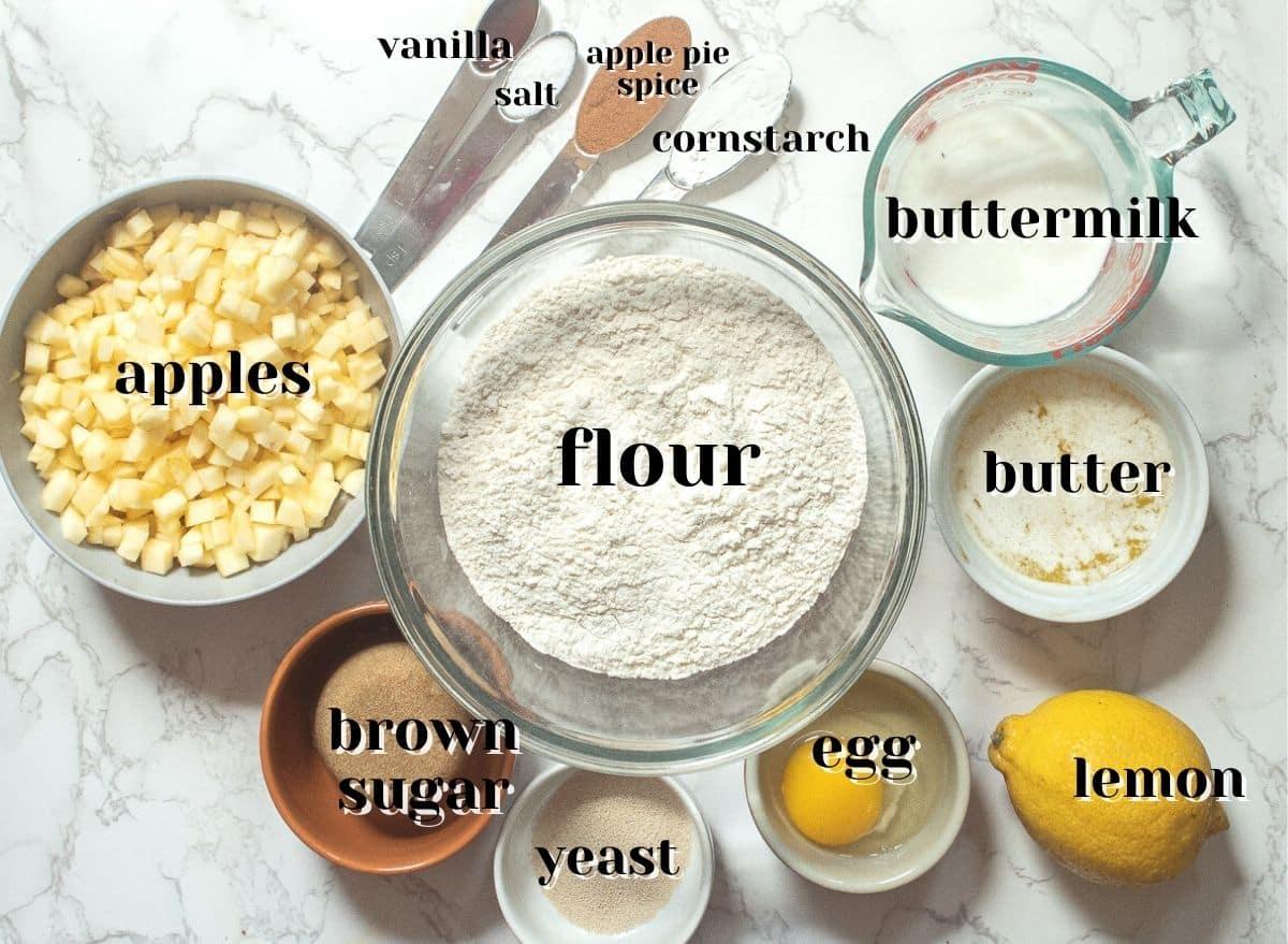 cinnamon rolls with apple pie filling ingredients