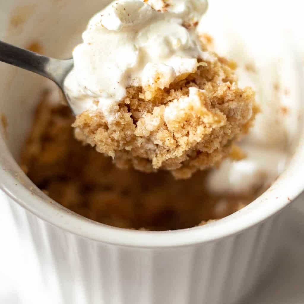 spoonful of apple mug cake