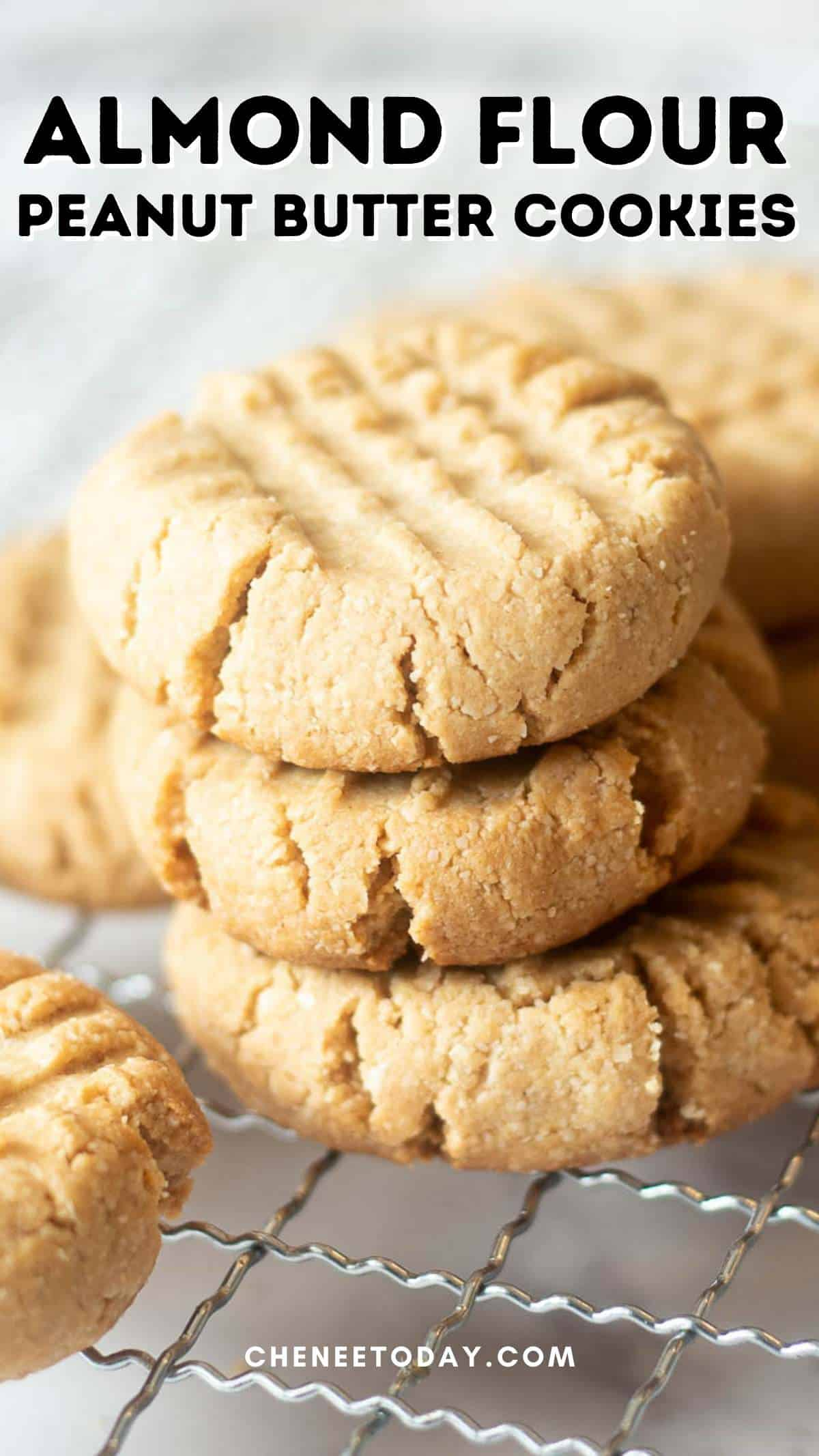 pin for almond flour peanut butter cookies