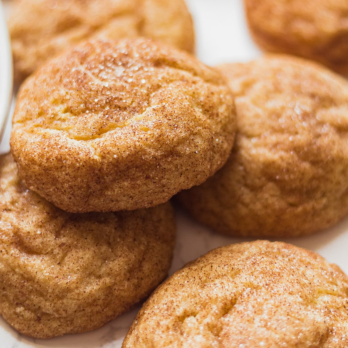 close up of snickerdoodles